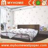 Diseño natural decorativo del papel de empapelar del dormitorio