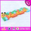 Brinquedo de madeira do enigma do alfabeto do projeto animal educacional por atacado para as crianças W14I016