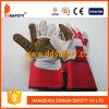 Handschoenen van het Leer van Ddsafety de 2017 Met rubber bekleede Bruine