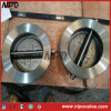 Tipo valvola di ritenuta della cialda dell'acciaio inossidabile doppia dell'oscillazione del piatto
