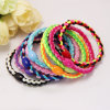 Meninas Fashion Colorful Weaving Hair Bands com Plastic Bead (JE1533)