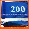 Изготовленный на заказ флаг гольфа печатание логоса с пластичной пробкой