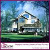 Casa viva modificada para requisitos particulares prefabricada del chalet de lujo de la estructura de acero