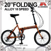 20 de  bicyclette se pliante d'alliage 18 vitesses (WL-2008A)