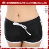 Shorts em branco baratos por atacado do Swimwear para o preto das mulheres (ELTBSI-39)