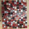 Mattonelle di mosaico rosse di vetro e del marmo di stile moderno per la decorazione della parete