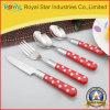Articoli per la tavola stabiliti della coltelleria di plastica della maniglia dell'acciaio inossidabile di buona qualità (RYST0227C)