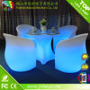 Les meubles de barre ont illuminé la couleur changeant des meubles de salon de DEL faits de plastique de PE