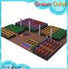 Trampoline modular do sistema do jogo do campo de jogos pequeno profissional das crianças do fabricante do campo de jogos