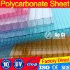 Strato del policarbonato della cavità della parete del gemello dello strato del policarbonato della Cina