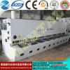 선전용 CNC 공작 기계 유압 단두대 격판덮개 깎는 기계 또는 장 절단기 16*9000mm