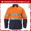 Salut chemise r3fléchissante uniforme de travail de vêtements de travail de sûreté de vêtements de travail de force (ELTHVSI-6)