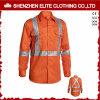 Vlam - de Veiligheid Vis Oranje Workwear van de Bouw van de vertrager hallo