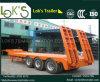 12m Tri-Wellen konkaver Exkavator-TransportGooseneck Lowboy niedriger Bett-halb Schlussteil