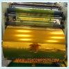 Film jaune d'animal familier de polyester de couleur de température élevée