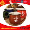 Taza impresa insignia de la leche de la taza del esmalte de la Ancho-Boca/del tarro del esmalte