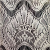 を離れてWhite Non-Stretch Chemical Lace Fabric (2166)