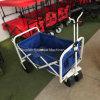 Carro plegable plegable de la playa utilitaria del carro (azul/blanco)