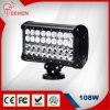 diodo emissor de luz Work Light Bar de 9.5inch 108W Four Row