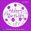 OEM Size Happy Birthday Cake Stencil Template avec Highquality