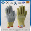 Aramid Cow Leather Cut-Resistant Safety Labor Protection Glove (Non-slip; Puncture Resistance)