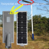Lampes solaires légères extérieures de réverbère de produits solaires d'appareil d'éclairage (HXXY-ISSL-5-80)