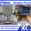 Sitio industrial de voladura de arena con el sistema mecánico automático de la recuperación