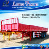 옆 Wall Open 3 Axles 40t Flatbed Special Vehicle Semi Trailer Truck (LAT9380T)