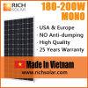 панель солнечных батарей 190W PV для солнечной электрической системы