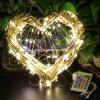 Шикарная фе СИД освещает дистанционное управление светов шнура светляка медного провода для обеда Xmas свадебного банкета