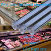 Luz de tira usada exhibición vendedora caliente del gabinete 9W RoHS LED de la carne