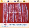 La fibra química PP fibriló la fibra para el mortero concreto del cemento