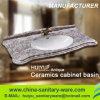 Évier de salle de bains, lavabo, lavage sanitaire en céramique de bassin de Cabinet de vanité de salle de bains
