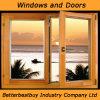 Двойное стеклянное алюминиевое окно древесины Chadding