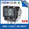 트럭 또는 트랙터 또는 기계장치 장비 LED 일 빛 30W 크리 사람 LED 일 램프