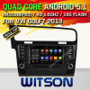 Auto DVD GPS des Witson Android-5.1 für VW Golf7 2013 mit Chipset 1080P 16g Support des ROM-WiFi 3G Internet-DVR (A5521)