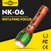Aluminiumjustierbare Handtaschenlampe des Fokus-LED, LED-Fackel (NK-06)
