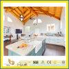 Чисто белые искусственние Countertops камня кварца для кухни и ванной комнаты