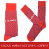 Las ventas calientes de los hombres mercerizaron el calcetín del algodón