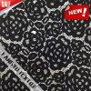 Tessuto nero elegante del merletto del cotone per la biancheria intima