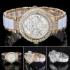Nuevo reloj de la aleación del cuarzo del estilo con los Zircons para las señoras Bg340