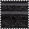 Tissu en nylon de polyester noir brillant pour les dessus des femmes