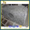 Parte superior branca da vaidade do banheiro do granito de Spoondrift do pulverizador (YQZ-GC1047)