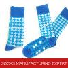 Qualität der Kamm-Baumwollfreizeit-Socke der Männer (UBM1032)