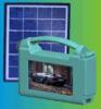 Beweglicher nachladbarer Solar-Fernsehapparat mit Fackel