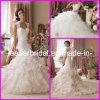 Крышка Sleeves мантия Od06 венчания Organza шнурка Alencon Bridal платьев розовая