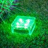ZIEGELSTEIN-Eis-Würfel-Pfad-Garten-Lampe 4 x-LED Kristallsolar