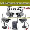 4CH 2.4G Wireless Camera System met AV uit Function