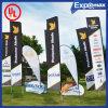 Nación al aire libre Retractable Pull up Roll de Advertizing Promotion Customer Car encima del surgir Sail Beach Feather Teardrop Flying Flag Banner