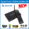 TV van Core Android van de vierling Box M8 met H. 265 en 4k Vierling Core schors-A9 tot 2.0GHz